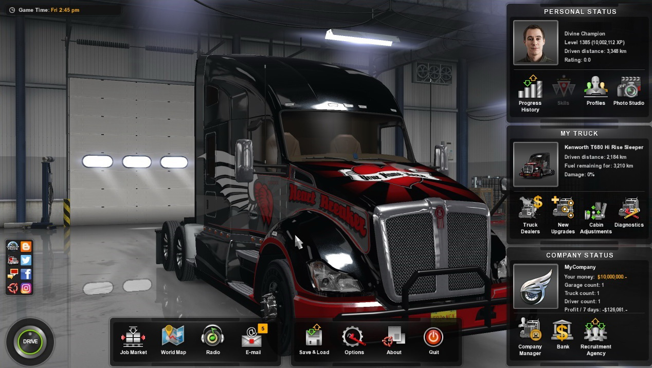 Game Trainers: AMERICAN TRUCK SIMULATOR V1 29 1 1S (+14