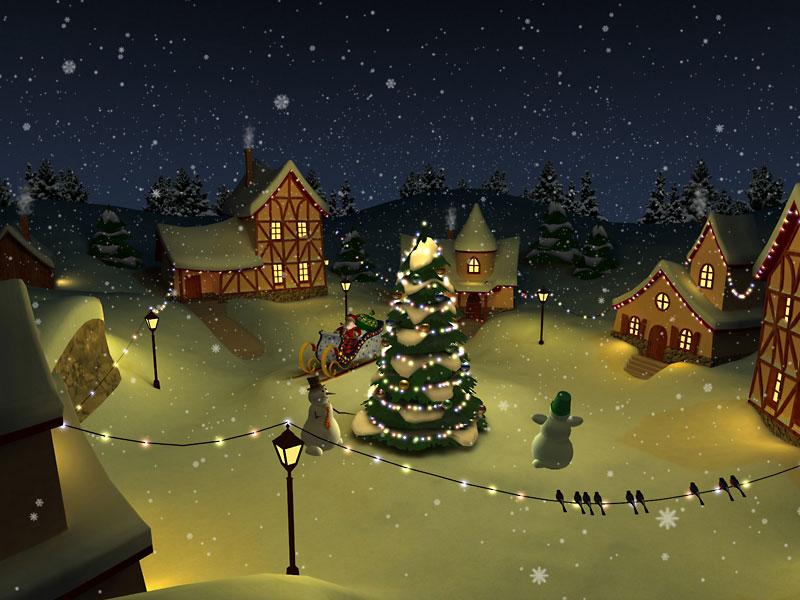 christmas holiday 3d screensaver - Christmas Screensavers Animated