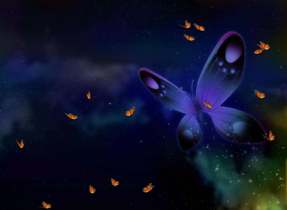 S happy butterfly screensaver 1 0 megagames - Monster high wallpaper border ...