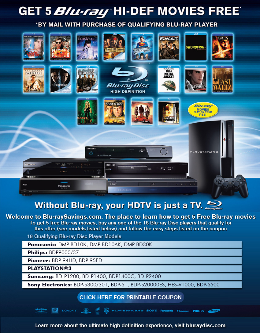 news rumored playstation 3 appears in blu ray ad megagames. Black Bedroom Furniture Sets. Home Design Ideas