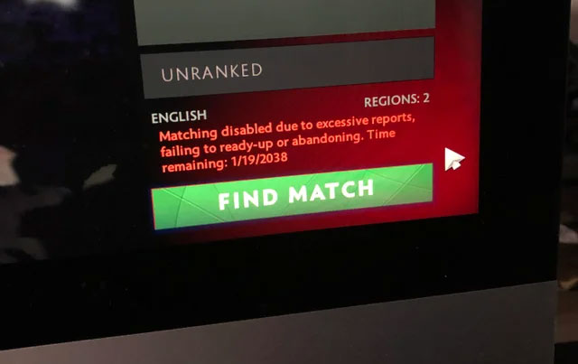 Dota unranked match