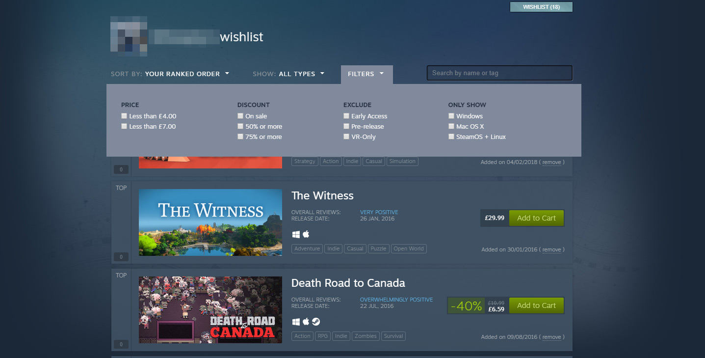 The Steam Lunar New Year Sale is live, new wishlist looks brilliant