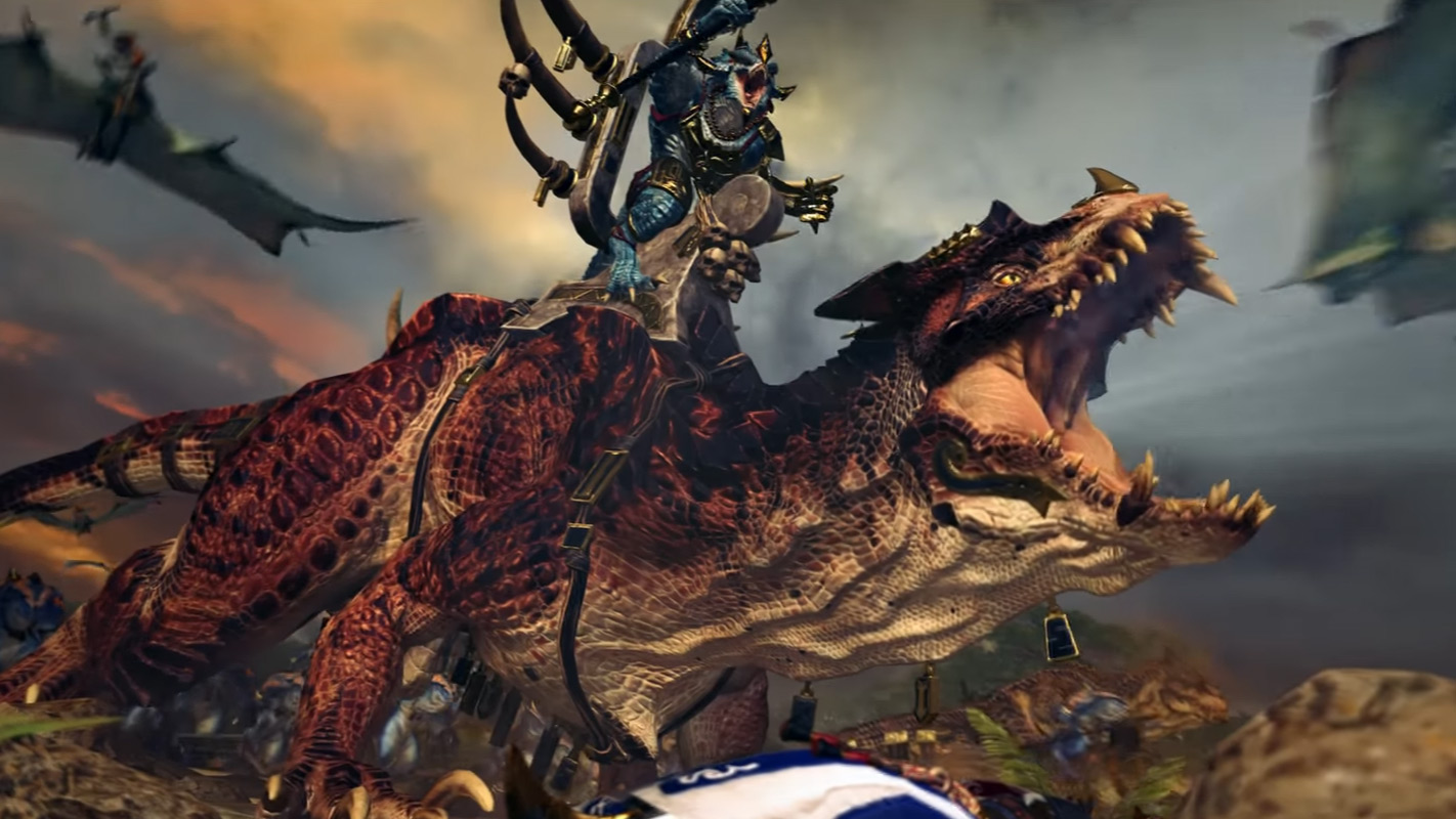 Total War: Warhammer 2 Debuts Dinosaur-Riding Lizardmen In New Trailer