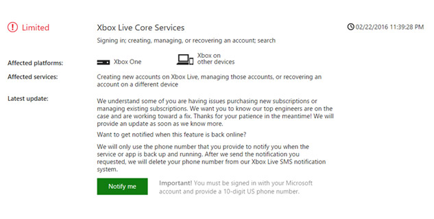Xbox Live is Down Again After Similar Problems Last Week