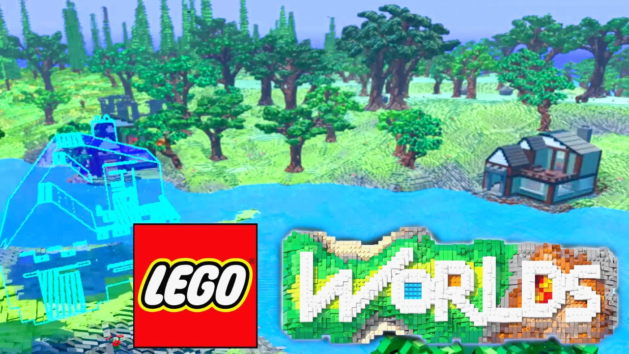 Lego Worlds Building Saturn