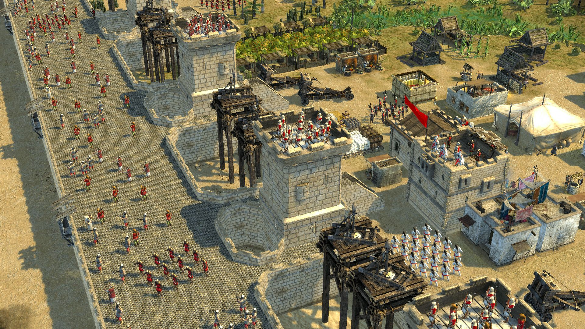 how to create peasants in stronghold 2